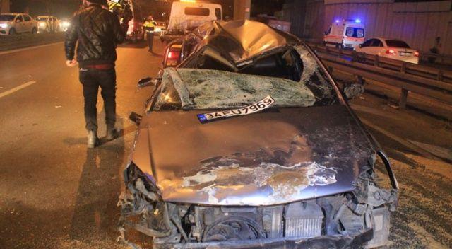 Vatan Caddesi'nde trafik kazası! Yaralılar var