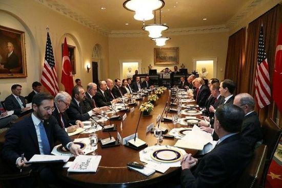 Erdoğan ve Trump başkanlığındaki heyetler arası görüşmede dikkat çeken detay