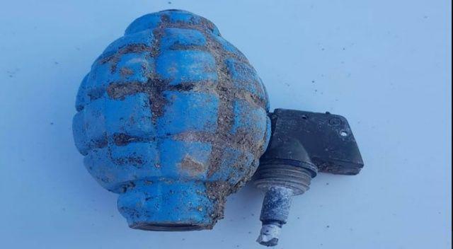 Çöplükte pimi çekilmiş el bombası bulundu