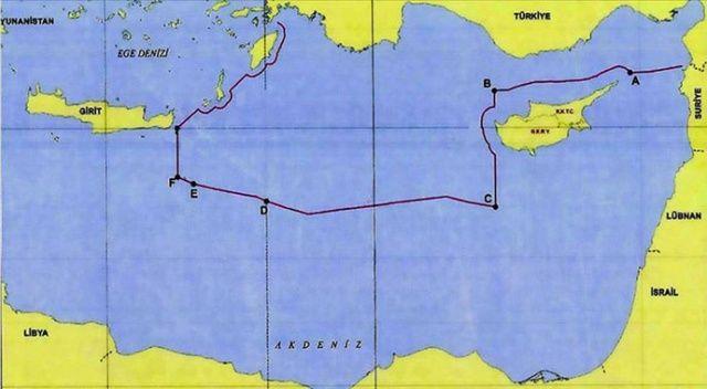 Dışişleri Bakanlığı Türkiye'nin Doğu Akdeniz'deki kıta sahanlığı ve sınırlarını paylaştı