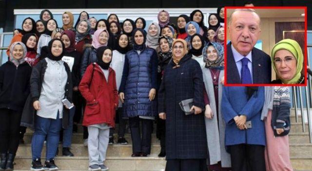 Erdoğan çiftinden imam hatipli öğrencilere: Sizler bizim kızımızsınız