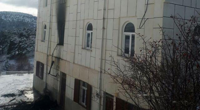 Giresun'da cami yangını
