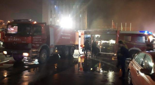 İbni Sina Hastanesinin arşivinde yangın çıktı