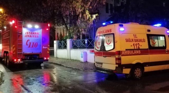 İstanbul'da 8 katlı apartmanda korkutan yangın