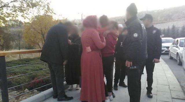 Kaçırılıp arabadan atılan genç kız ailesini görünce gözyaşlarını tutamadı