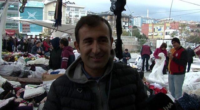 Kadıköy'de çadırla beraber uçan pazarcı o anları anlattı