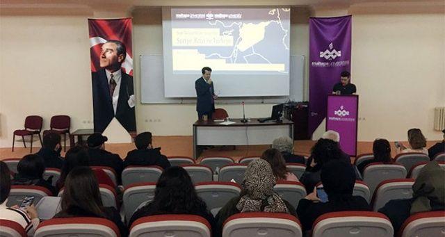 Maltepe Üniversitesinde 'Son Gelişmeler Işığında Suriye Krizi ve Türkiye' konferansı