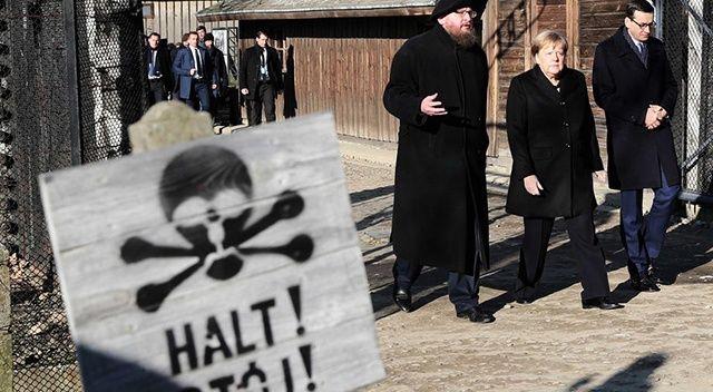 Merkel'den Nazi kampına ziyaret