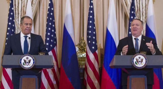 Pompeo ve Lavrov'dan kapsamlı görüşme