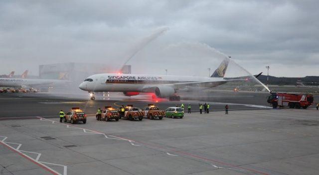 Singapur'dan İstanbul Havalimanı'na Airbus A350'lerle ilk tarifeli uçuş