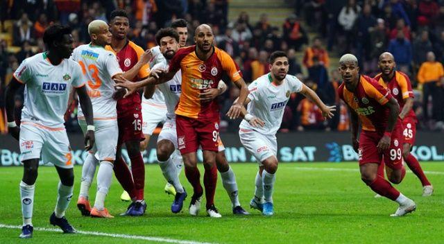 Süper Lig'te 14. hafta maçında Galatasaray, Alanyaspor'u 1-0 yendi