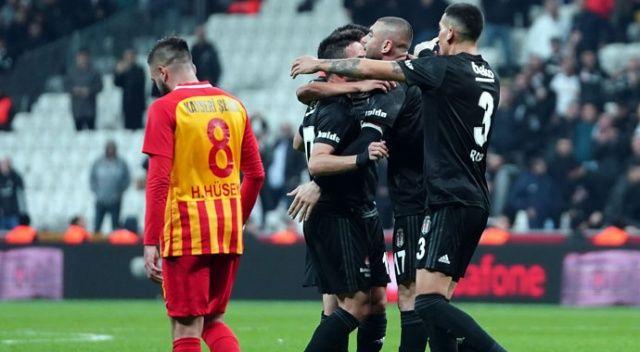 Süper Lig'in 13. hafta kapanış maçında Beşiktaş, Kayserispor'u 4-1 yendi