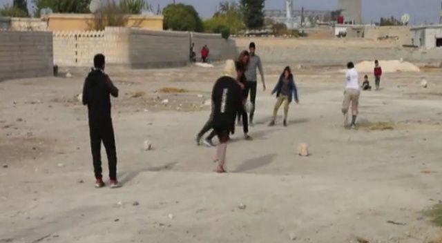 Tel Abyadlı çocukların yüzü gülüyor