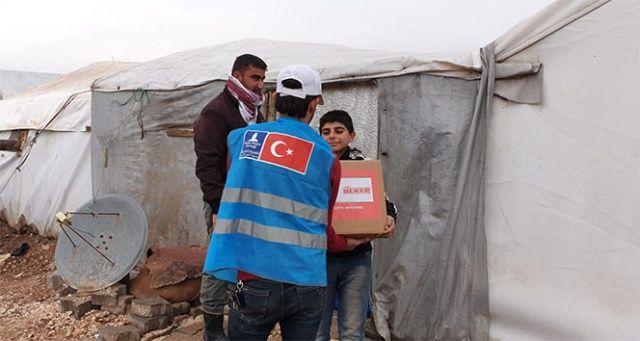 Ülker'den Suriye'de ihtiyaç sahibi ailelere bin 200 koli gıda desteği