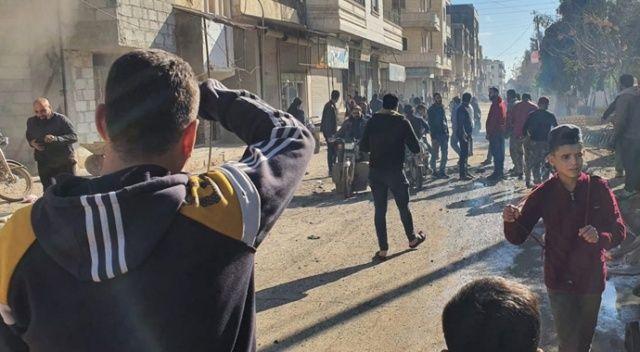 YPG/PKK Azez'deki sivillere saldırdı:1 ölü, 9 yaralı