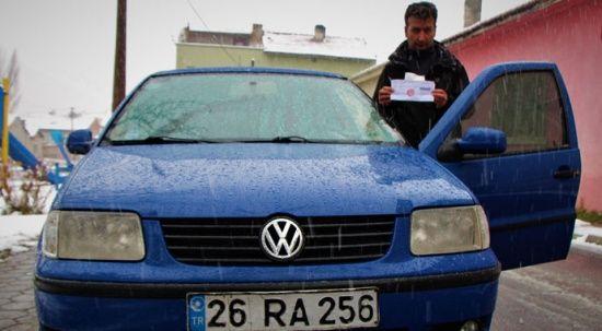 Eskişehir'de ilginç olay! Bulunmadığı şehirde park cezası yedi