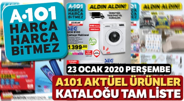 A101 23 Ocak İndirimli Ürünler Listesi burada | 23 Ocak A101 indirim Katalog Broşür (A101 bu hafta hangi ürünler indirimli)