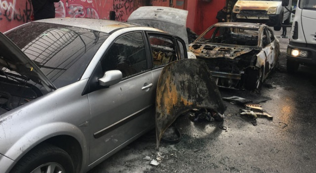 Araçları yakıp lastiklerini kesen zanlı yakalandı