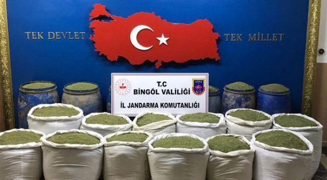 Bingöl ve Diyarbakır'da ton 351 kilogram uyuşturucu ele geçirildi