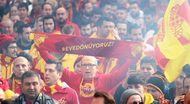Binlerce Göztepe taraftarı yeni stadyuma yürüdü