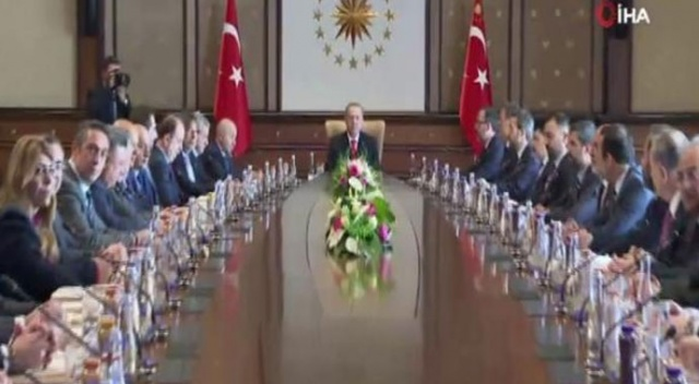 Cumhurbaşkanı Erdoğan Kulüpler Birliği Başkanı Sepil'i kabul etti