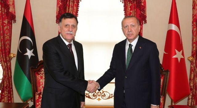 Cumhurbaşkanı Erdoğan, Libya Başbakanı Es-Serrac'ı kabul etti