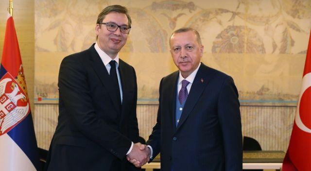 Cumhurbaşkanı Erdoğan, Sırbistan Cumhurbaşkanı Vuçiç görüşmesi başladı