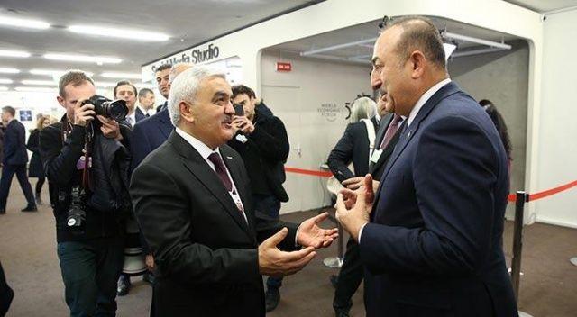 Dışişleri Bakanı Çavuşoğlu Davos'ta