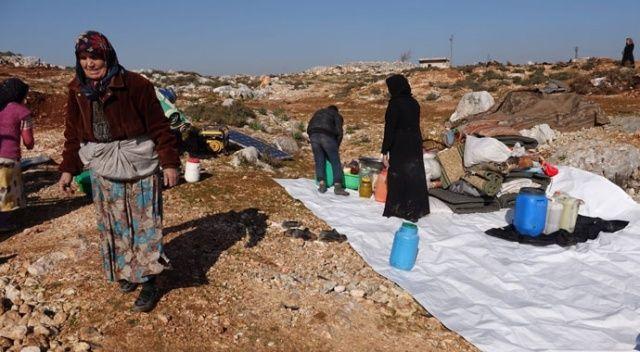 Esad'ın saldırılardan kaçan siviller kalacak çadır bile bulamıyor