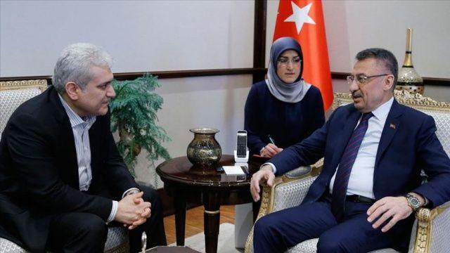 Fuat Oktay, İran Cumhurbaşkanı Yardımcısı Sattari ile görüştü