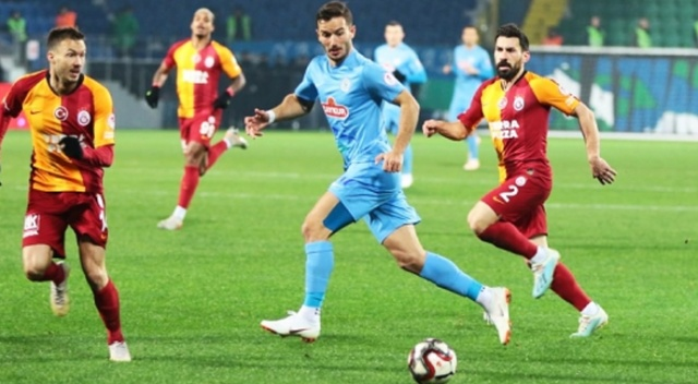 Galatasaray Rize'den beraberlikle çıktı!