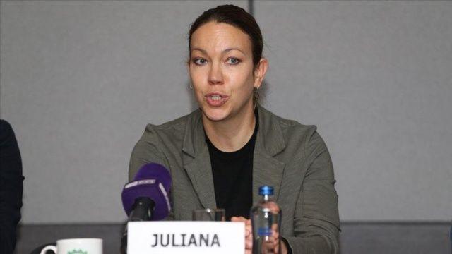 Guinness rekortmeni kadın bisikletçi Juliana Buhring İstanbul'da