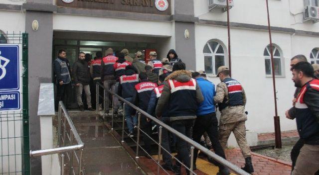 Hatay'da uyuşturucu operasyonu: 33 gözaltı