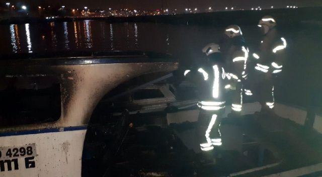 İki balıkçı teknesinde korkutan yangın