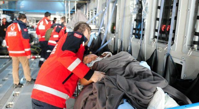 Somali'de yaralananlar tedavi için Ankara'ya getirildi
