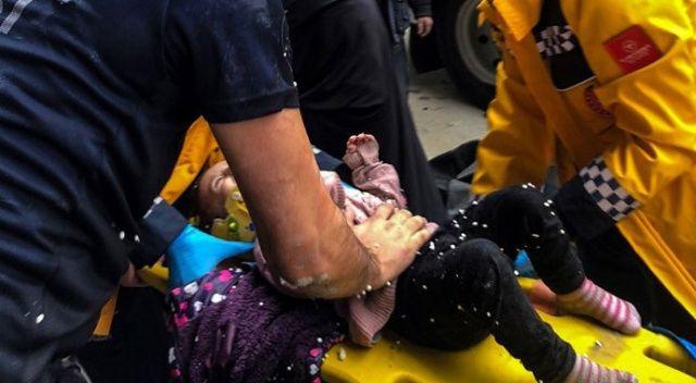 Üç yaşındaki Betül  inşaat kuyusuna düştü