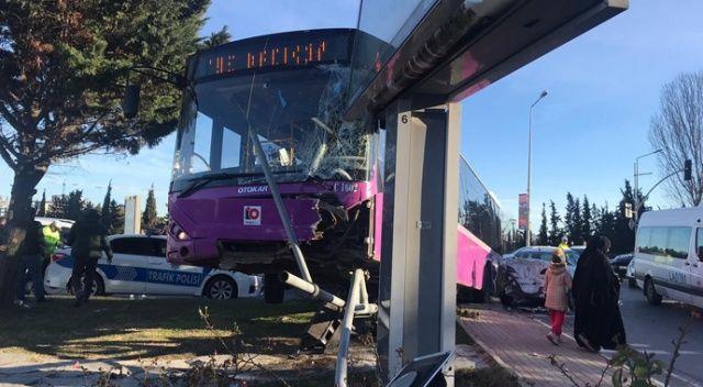 Ataşehir'de feci kaza İstanbul Otobüs AŞ'ye ait...