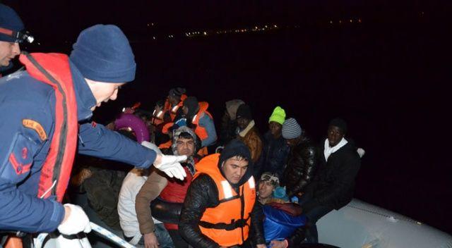 Ayvalık'ta 44 göçmen yakalandı