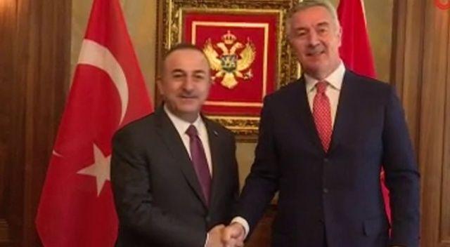 Bakan Çavuşoğlu, Karadağ Cumhurbaşkanı Cukanoviç ile görüştü