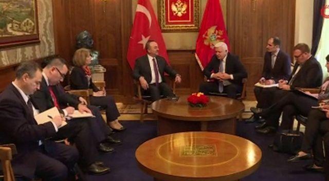 Çavuşoğlu, Karadağ Başbakanı Markoviç ile görüştü