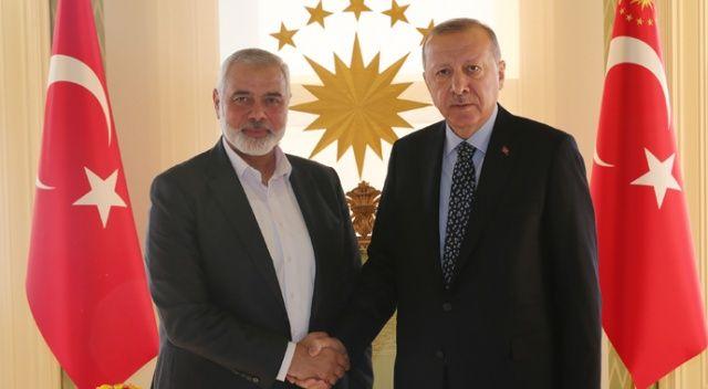 Cumhurbaşkanı Erdoğan, Hamas Lideri İsmail Heniyye'yi kabul etti