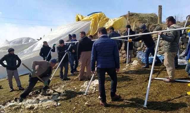 Deprem bölgesinde çalışmalar devam ediyor