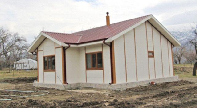 Elâzığ'da ilk örnek ev kuruldu