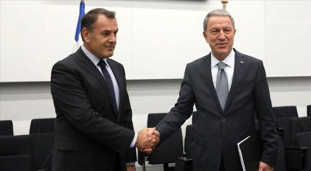 Hulusi Akar, Yunan Savunma Bakanı ile görüştü