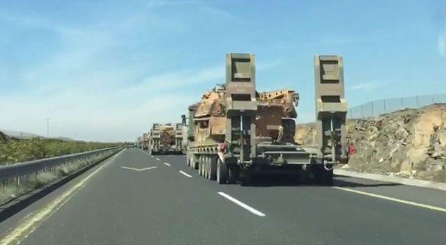 İdlib sınırına çok sayıda tank sevkiyatı