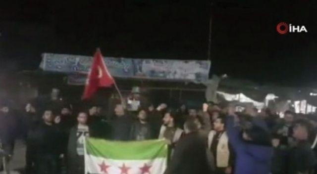 İdlib'te halk, TSK'ya destek gösterisi düzenledi
