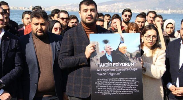 """İzmir'de AK Partili gençlerden """"CHP-FETÖ iş birliği sergisi"""""""