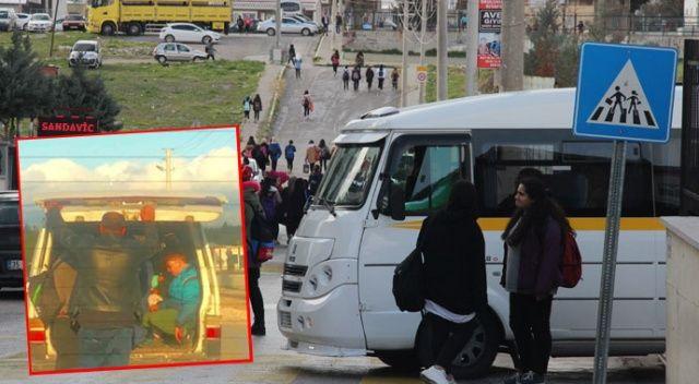 İzmir'de öğrenci servisinden şoke eden görüntüler!