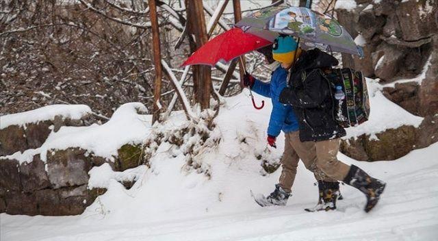 Kar yağışı etkisini gösteriyor! Bazı illerde eğitime ara verildi