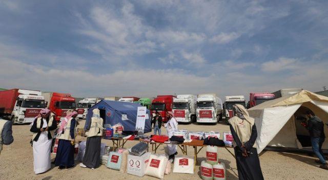 Katar'dan İdliblilere yardım